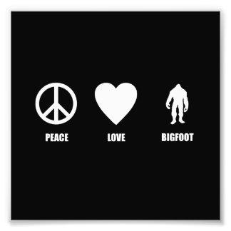 Peace Love Bigfoot Art Photo