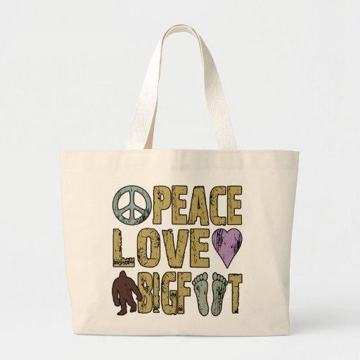 Peace Love Bigfoot Jumbo Tote Bag