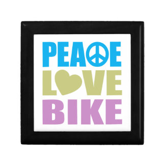 Peace Love Bike Small Square Gift Box