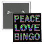PEACE LOVE BINGO BUTTONS