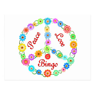 Peace Love Bingo Post Card