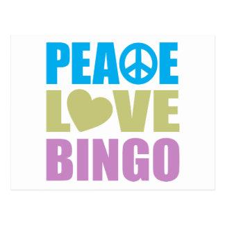 Peace Love Bingo Post Cards