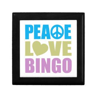 Peace Love Bingo Small Square Gift Box