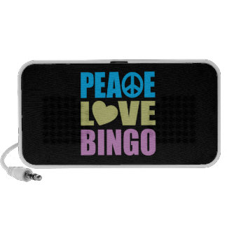 Peace Love Bingo Laptop Speakers
