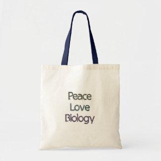 Peace, Love, Biology Budget Tote Bag