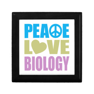 Peace Love Biology Small Square Gift Box