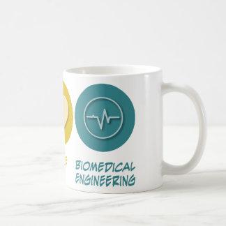 Peace Love Biomedical Engineering Coffee Mugs
