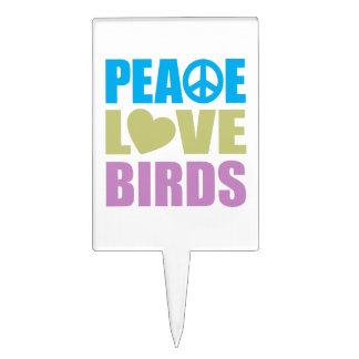 Peace Love Birds Cake Pick