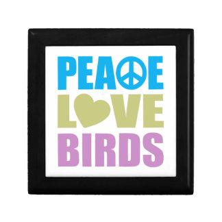 Peace Love Birds Small Square Gift Box
