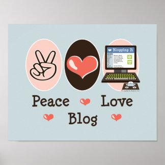 Peace Love Blog Poster