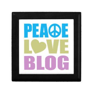 Peace Love Blog Small Square Gift Box