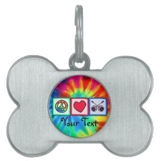 Peace, Love, Bluegrass Pet ID Tag