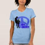 Peace love blues shirts
