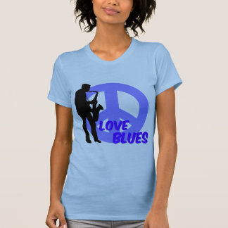 Peace love blues T-Shirt