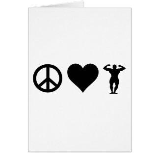 Peace Love Bodybuilding Cards