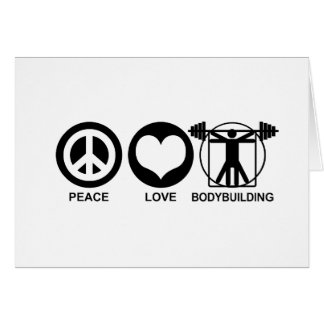 Peace Love Bodybuilding Greeting Card