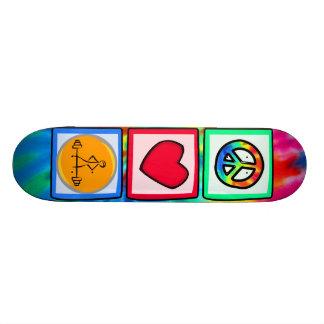 Peace Love Bodybuilding Skateboard
