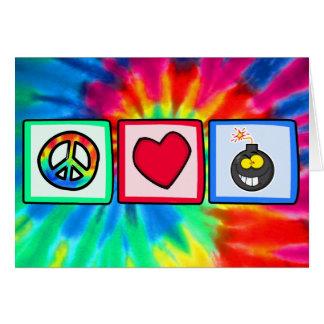 Peace, Love, Bombs Greeting Card