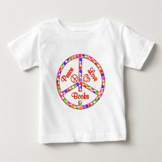 Peace Love Books Baby T-Shirt