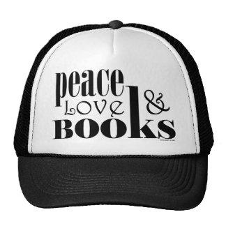 Peace Love Books Hats