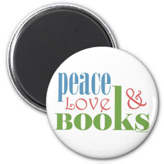 Peace Love Books II Refrigerator Magnets