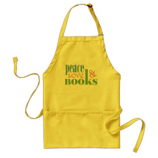 Peace Love Books II Standard Apron