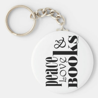 Peace Love Books Keychains