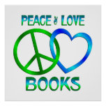 Peace Love BOOKS Poster