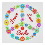 Peace Love Books Poster