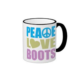 Peace Love Boots Ringer Mug