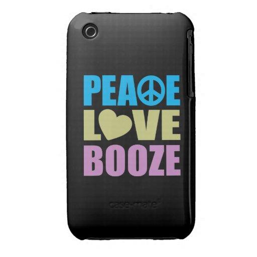 Peace Love Booze iPhone 3 Cover