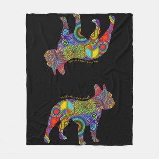 """""""Peace Love & Boston Terriers"""" Pop Art Blanket"""