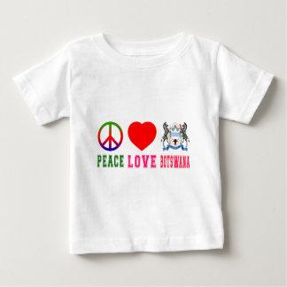 Peace Love Botswana T Shirt