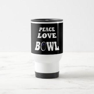 Peace love Bowl Stainless Steel Travel Mug