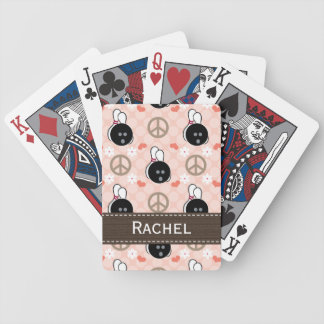 Peace Love Bowling Bicycle Playing Cards