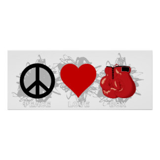Peace Love Box Emblem Poster