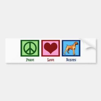 Peace Love Boxers Bumper Sticker