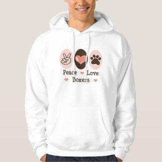 Peace Love Boxers Hooded Sweatshirt