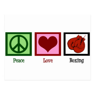 Peace Love Boxing Postcards