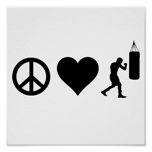 Peace Love Boxing Poster