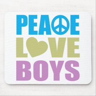 Peace Love Boys Mouse Pad
