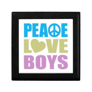 Peace Love Boys Small Square Gift Box