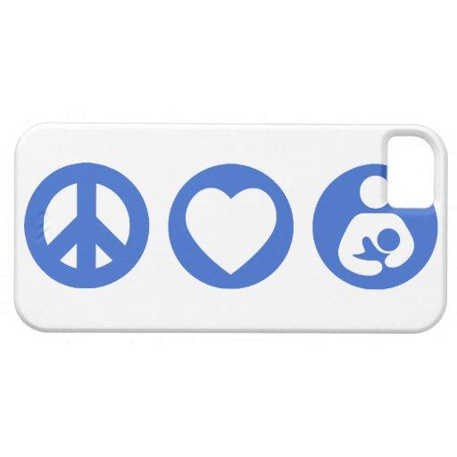 Peace Love Breastfeeding iPhone 5 Covers