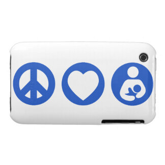 Peace Love Breastfeeding iPhone 3 Case-Mate Cases