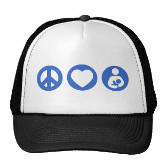 Peace Love Breastfeeding Trucker Hat