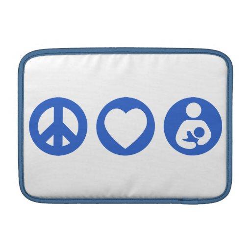Peace Love Breastfeeding MacBook Air Sleeve