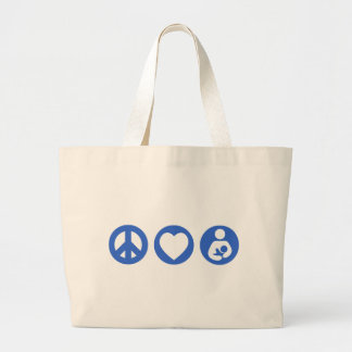 Peace Love Breastfeeding Jumbo Tote Bag