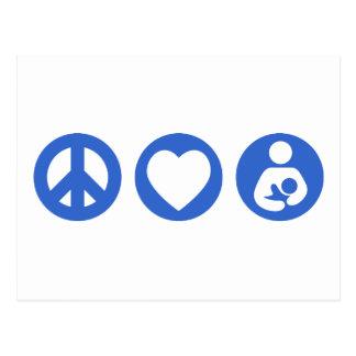 Peace Love Breastfeeding Postcard