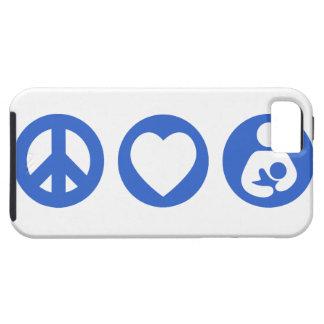 Peace Love Breastfeeding Tough iPhone 5 Case