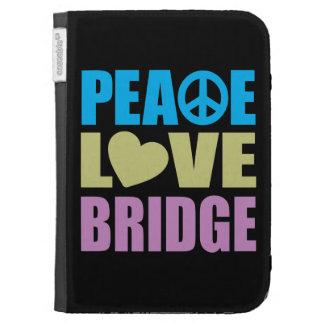 Peace Love Bridge Kindle Folio Cases